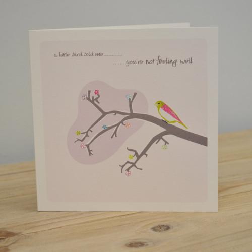Jacky Al-Samarraie Little Bird Get Well Card