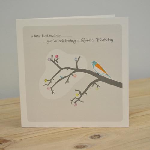 Jacky Al-Samarraie Little Bird Special Birthday Card