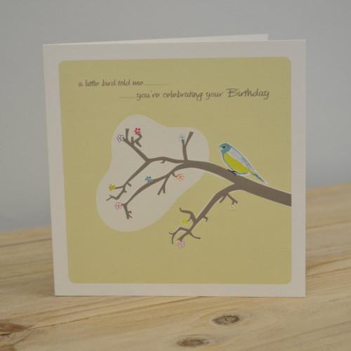 Jacky Al-Samarraie Little Bird Birthday Card