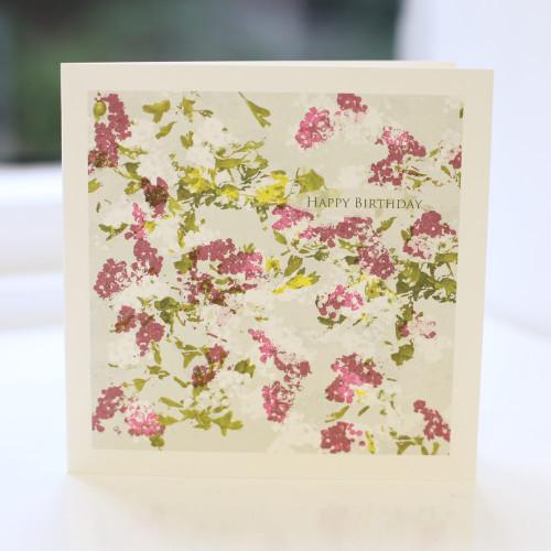 Jacky Al-Samarraie Hawthorn Flower Birthday Card