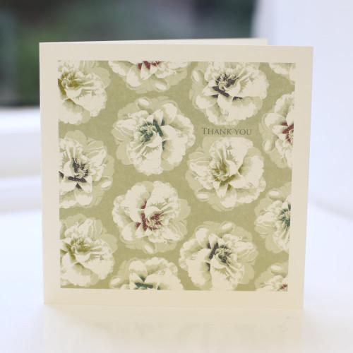 Jacky Al-Samarraie Gold Camellia Thank You Card