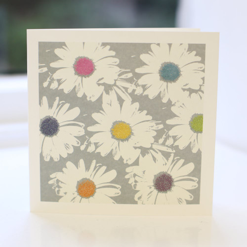 Jacky Al-Samarraie Grey Daisy Greeting Card