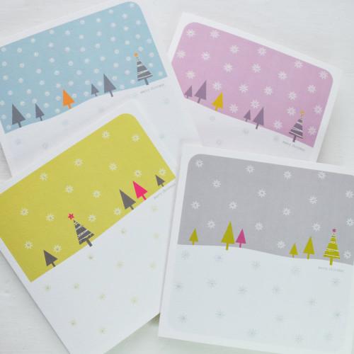 Jacky Al-Samarraie Snowfall Christmas Cards - Pack of 4