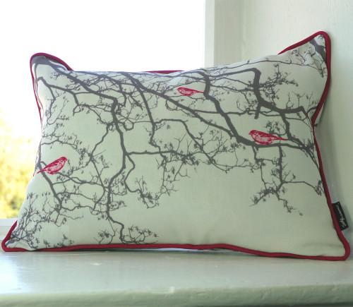 Jacky Al-Samarraie Birdsong Cushion - Pink