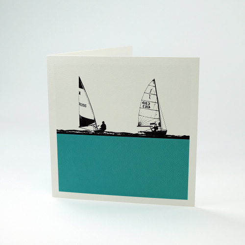 Sailing greeting card by Jacky Al-Samarraie