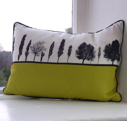Jacky Al-Samarraie Leeds Landscape Cushion - Lime