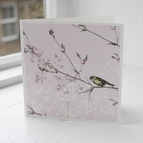 Jacky Al-Samarraie Bird Garden Pink Greeting Card