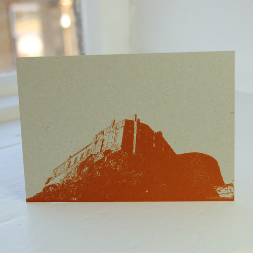 Jacky Al-Samarraie Edinburgh Castle Orange Postcard