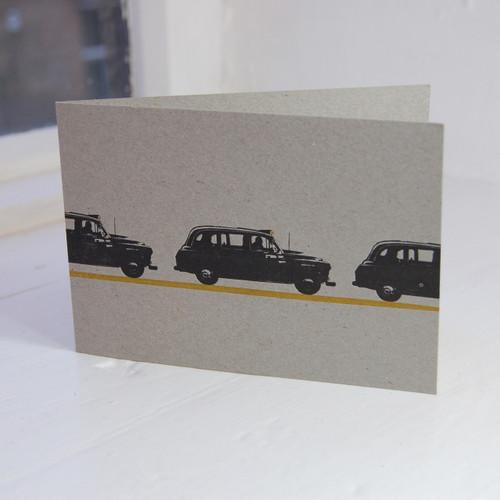 Jacky Al-Samarraie London Taxi Letterpress Greeting Card