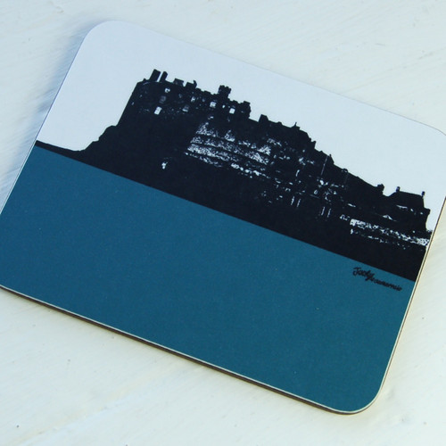 Jacky Al-Samarraie Edinburgh Castle Teal Coaster