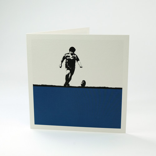 Rugby greeting card by Jacky Al-Samarraie