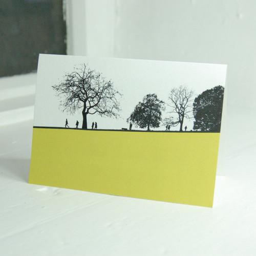 Jacky Al-Samarraie Hampstead Heath Greeting Card