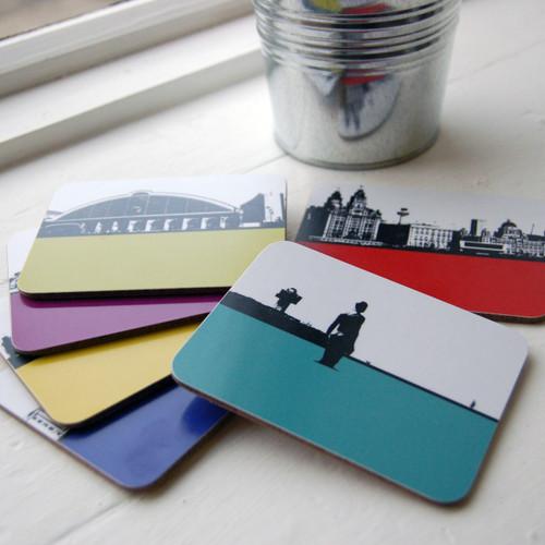 Jacky Al-Samarraie Liverpool Landscape Coasters - Pack Two