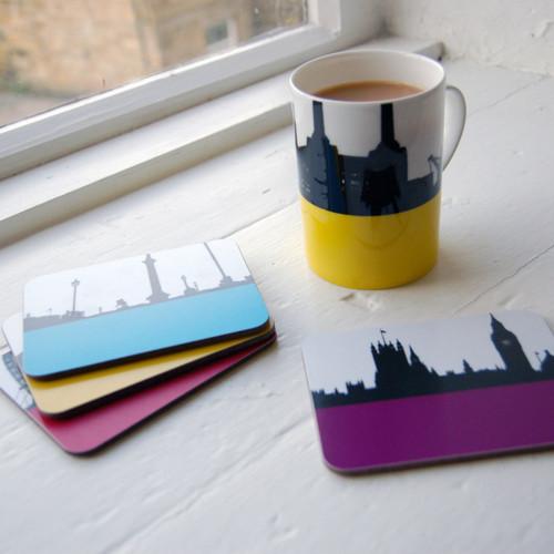 Jacky Al-Samarraie London Landscape Coasters - Pack Two