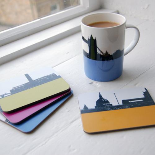 Jacky Al-Samarraie London Landscape Coasters - Pack One