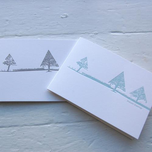 Jacky Al-Samarraie Letterpress Landscape Christmas Card Pack
