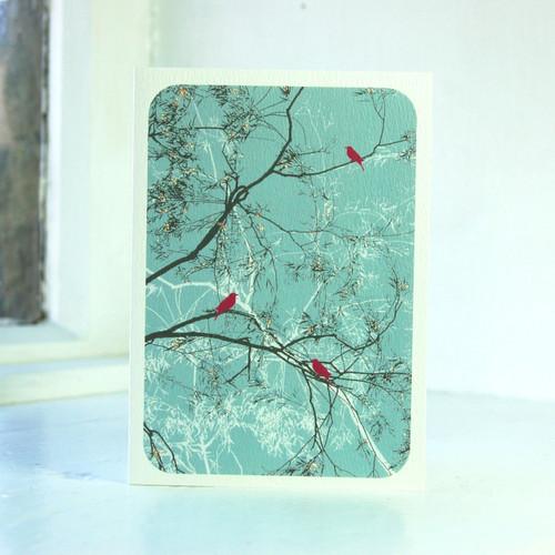 Jacky Al-Samarraie Oriental Teal Greeting Card