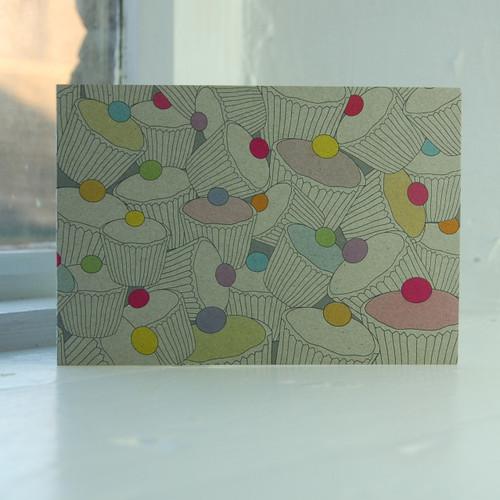 Jacky Al-Samarraie Cupcake Pile Greeting Card