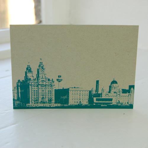 Jacky Al-Samarraie Three Graces Turquoise Postcard
