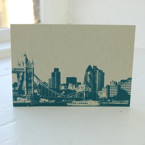 Jacky Al-Samarraie Tower Bridge & Gherkin Postcard