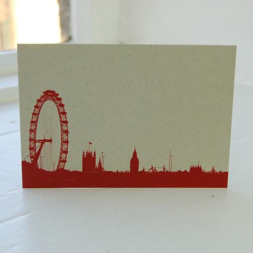 Jacky Al-Samarraie London Eye & Houses of Parliament Postcard