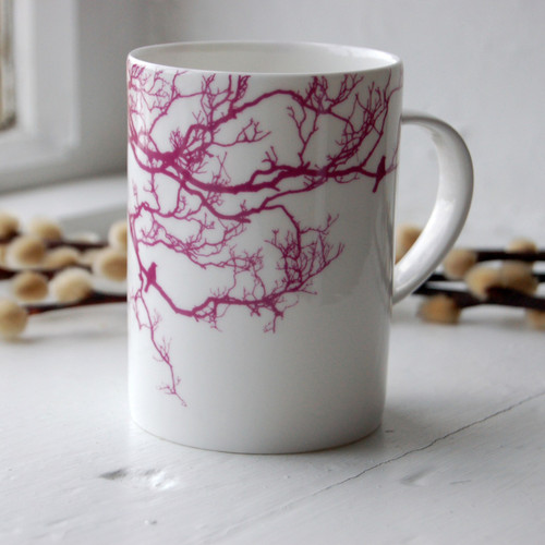 Jacky Al-Samarraie Fuchsia Birdsong Bone China Mug