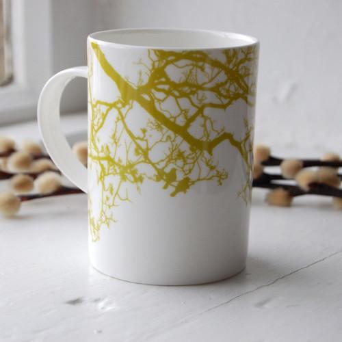 Jacky Al-Samarraie Lime Birdsong Bone China Mug