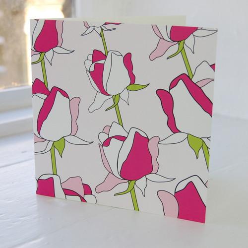 Jacky Al-Samarraie Rose Greeting Card
