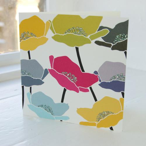 Jacky Al-Samarraie Poppies Greeting Card