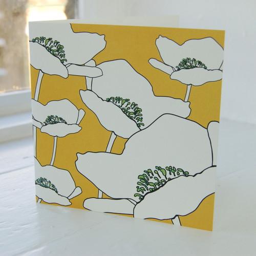 Jacky Al-Samarraie Poppy Orange Greeting Card