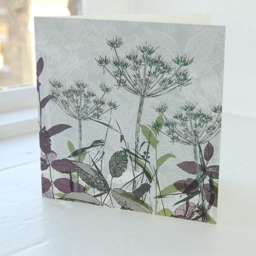 Jacky Al-Samarraie Cow Parsley Wild Flower Greeting Card