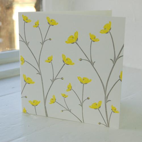 Jacky Al-Samarraie Buttercup Letterpress Greeting Card