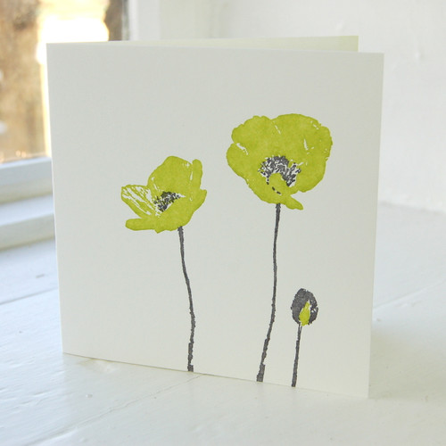 Jacky Al-Samarraie Poppy Letterpress Greeting Card