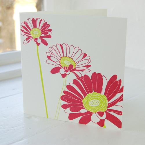 Jacky Al-Samarraie Gerbera Letterpress Greeting Card