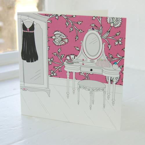 Jacky Al-Samarraie Little Black Dress Greeting Card