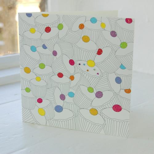 Jacky Al-Samarraie Cupcake Greeting Card