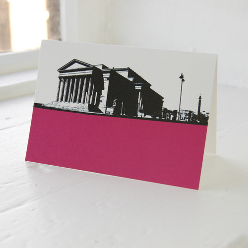 Jacky Al-Samarraie St. Georges Hall Pink Greeting Card