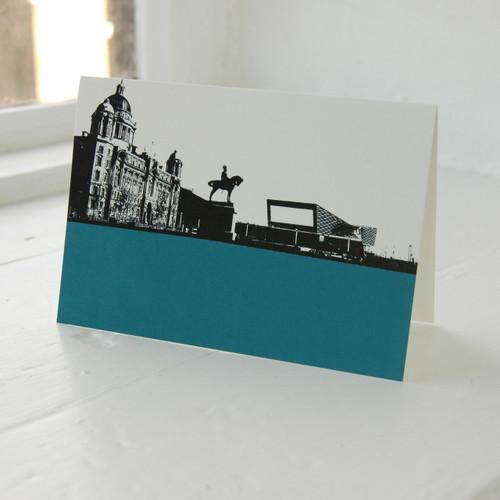 Jacky Al-Samarraie Liverpool Waterfront & Museum Greeting Card