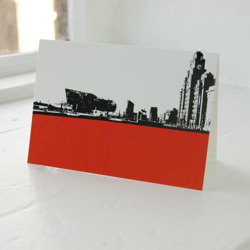 Jacky Al-Samarraie Liverpool Waterfront Greeting Card