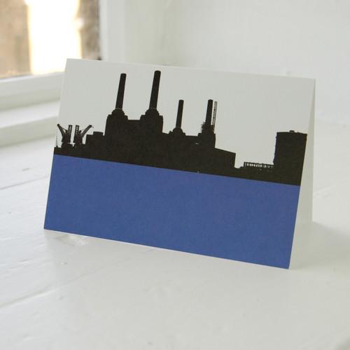Jacky Al-Samarraie Battersea Power Station Blue Greeting Card