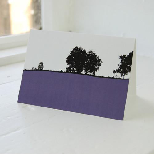 Jacky Al-Samarraie Coniston Dark Blue Greeting Card