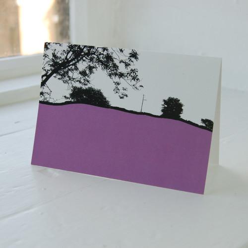 Jacky Al-Samarraie Hardknott Pass Purple Greeting Card