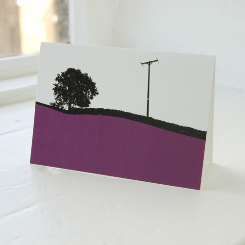 Jacky Al-Samarraie Troutbeck Purple Greeting Card