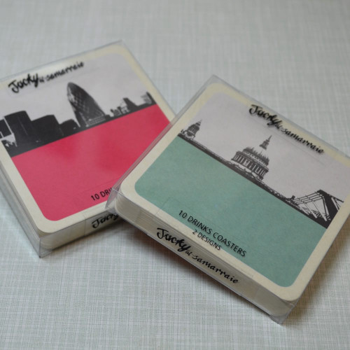 Jacky Al-Samarraie London Cityscapes Drinks Coasters - Set 1