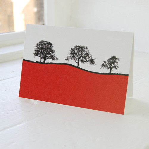 Jacky Al-Samarraie Dales - Burnsall Red Greeting Card