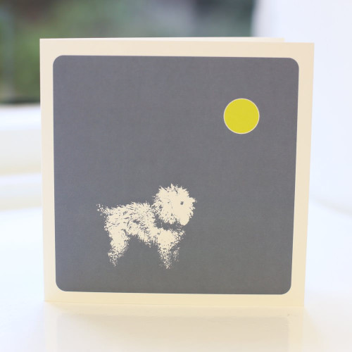 Jacky Al-Samarraie Bichon Frise Greeting Card