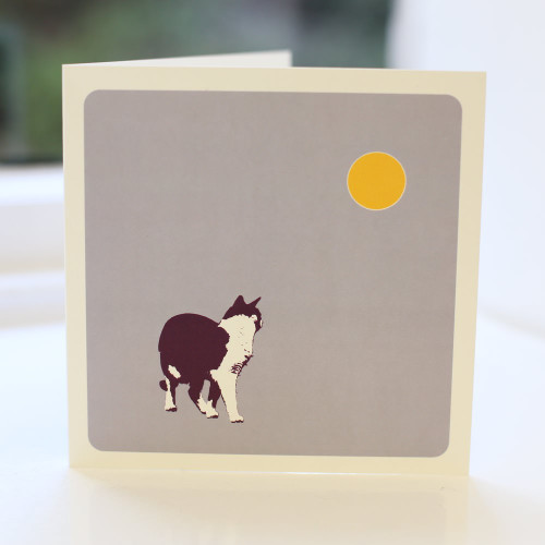 Jacky Al-Samarraie Cat Lilac Greeting Card