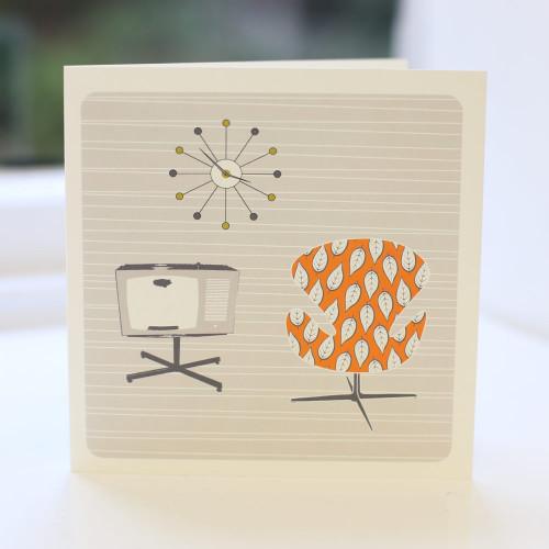 Jacky Al-Samarraie Chair & TV Greeting Card