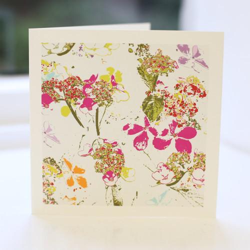 Jacky Al-Samarraie Mixed Flowers Greeting Card