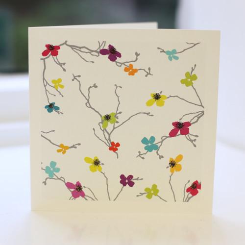 Jacky Al-Samarraie Blossom Greeting Card